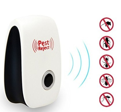 Multifunctional ultrasonic electronic repeller insect repellent white one size
