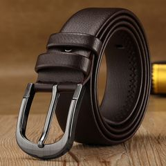 Buckle Belt Fashion Casual  leather belt belts men luxury strap male pin Christmas gifts brown common