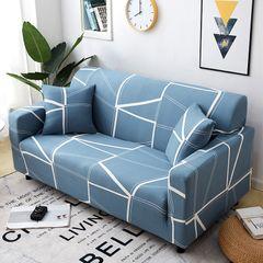 Fully surrounded elastic sofa set four seasons sofa set sofa cushion 1-3 seaters sofa cover Simple line 3-seat (190-230cm)+1 pcs pillow case