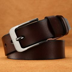 Buckle Belt Waistband  belts men's Fashion Casual Leather  belts men strap male pin Gift Brown common