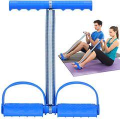 Tummy Trimmer Portable Belly Slimming  Foot Pedal Abdomen Leg Exerciser Elastic Sit Up  Abdomen Gym Blue