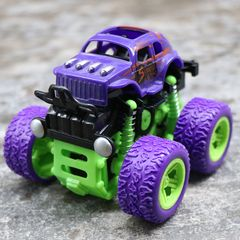 Kids Cars Toys Monster Truck Inertia SUV Friction Power Vehicles Boys Cars Children Christmas gifts purple one  size