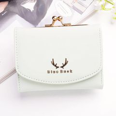 Handbags Ladies Leather Clutch Bifold Short Wallet Card Holder Purse  Women Wallets Christmas gift green one  size