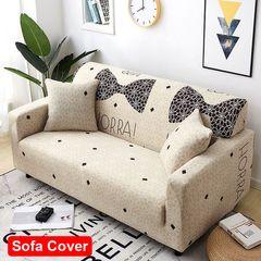 Fully surrounded elastic sofa covers four seasons sofa set sofa cushion 1-3 seaters sofa cover Bow 3-seat (190-230cm)+1 pcs pillow case