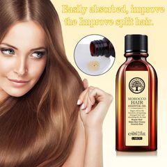 60ml Hair  Care Essential Oil Treatment for Moisturizing Soft Hair Pure Argan Oil Dry Hair Repair as picture 60ml