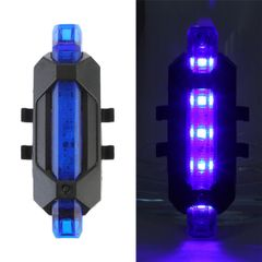 Bicycle Bike Light USB  Rechargeable LED Taillight Rear Tail Safety Warning Cycling Light Blue normal