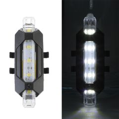 Bicycle Bike Light USB  Rechargeable LED Taillight Rear Tail Safety Warning Cycling Light White normal
