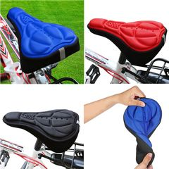 Mountain Bike Cycling 3D Pad Bicycle Soft Saddle Seat Cover Bike Cushion  Bicycle Accessorie Black