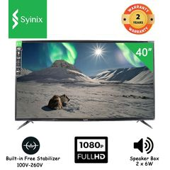 (New arrival) Syinix 40'' Inches 40S630F Digital Full HD LED TV black 40 inches