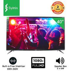 (New arrival) Syinix 40'' Inches 40S630F Digital Full HD LED TV black 40 inches