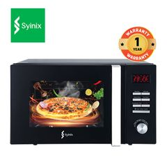 Syinix 25L 900W Powerful Microwave Oven MW1025-05D (Buy Oven Get Free Sports Bottle) Black 25L 900W