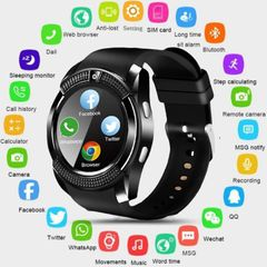 V8 Smart Watch Bluetooth Touch Screen Android Waterproof Sport Smartwatched with Camera SIM Card black one