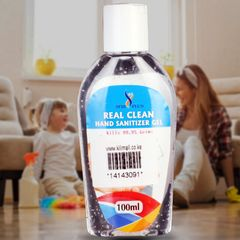 Real clean sanitizer 100ml transparent