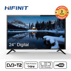 Hifinit By Haier 24 Inch Television  LED HD DIGITAL TV(Special offer only one day) black 24''