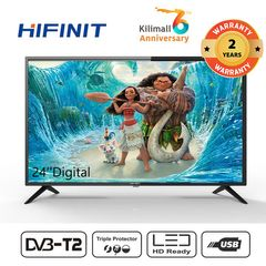 Hifinit By Haier 24 Inch Television  LED HD DIGITAL TV black 24''