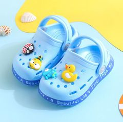 Summer A sandal walking shoes baby cute Cartoon princess shoes girl boy shoes child blue 22