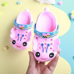 Summer girl sandal walking bee shoes baby cute flower princess shoes girl boy shoes child Pink 25