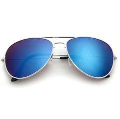 Metal Sunglasses Hot Fashion High-grade Resilience Leg Men's Women Universal Glasses Silver frame ice blue spectacle