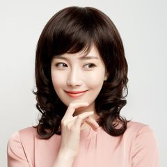 Wig new style wig female curly hair middle-aged lady natural big wave shoulder-length wig headgear 1 brown