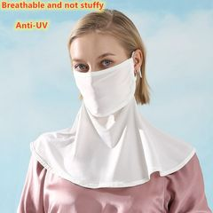 Sunscreen Mask Women's Outdoor Mountaineering Cycling Ice Silk Ventilation and Neck Protection Mask default
