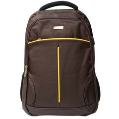 PN-1317 Men Women 18 Inch Canvas Backpacks School Bags Large Capacity Backpack Fashion Men Backpack black&yellow one size