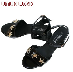 WH063 WEDGE SHOES 2020 New Fashion Women Sandals Ladies Slippers Shoes Women high Heels Sandals black 39