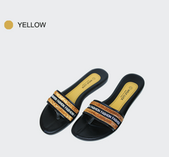 TZ094 Flat Open Shoes Women Shoes Ladies Shoes Slippers Fashion Home Wear Flip-flops Slippers yellow 40