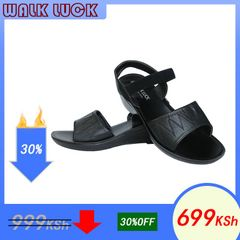 2020 New Women Shoes Heels Wedges Heel Leather Sandals Spot Shoes for Women Fashion black 42