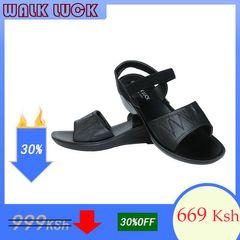 2020 New Women Shoes Heels Wedges Heel Sandals Spot Shoes for Women Fashion black 40