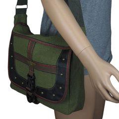 FBD-02 Men's Backpack New Nylon Canvas Shoulder Bag Leisure Sports Tourism  Messenger & Shoulder Bag Green one size