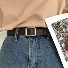 【 Valentine gifts】 Belt Fashion Waist  Buckle Heart For Ladies Leisure Dress Jeans Wild Waistband Black