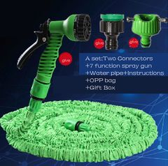 125FT-150FT Garden Hose Expandable Magic Water Hose  Plastic Pipe With Spray Gun To Watering BLUE 150FT