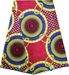 African Batik cotton batik positioning pattern Ankara wax cloth AS picture 6 YARDS