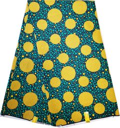 New year ankara African wax dyed fabric polyester double sided AS picture 6 YARDS