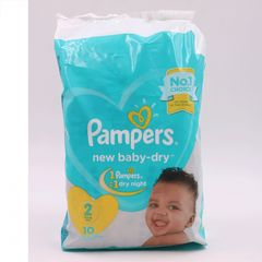 Pampers 10Pcs  New Baby-dry Size2 3-8kg Mini Baby Diapers as picture size 2