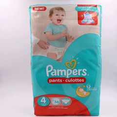 Pampers 56Pcs  Pants Culottes Size4 9-14kg Maxi Baby Diapers Baby Diapers as picture size 4