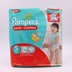 Pampers 26Pcs  Pants Culottes Size5 Junior 12-18kg Baby Diapers Baby Diapers as picture size 5
