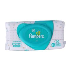 Pampers 56Pcs  Baby Wipes Complete Clean 0% Alcohol Wipes as picture