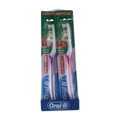 Oral B 1 PCS  3 Effect Maxi Clean Value Pack 2 CT Toothbrush 40 as picture