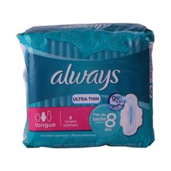 Always Sanitary Pads Ultra  Thin  Long Cotton Soft 8 pads as picture