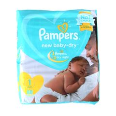 Pampers 88Pcs Baby-dry Size1  2-5kg  Newborn Baby Diapers as picture size 1