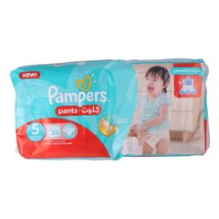 Pampers 52Pcs Pants Culottes Size5  12-18kg Junior  Baby Diapers as picture size 5
