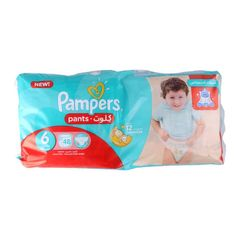 Pampers 48Pcs Pants Culottes Size6 16+kg Extra Large Baby Diapers as picture size 6