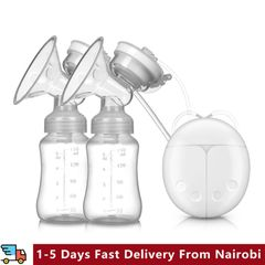 Double Side Intelligent Electric Breast Pump Baby Breast Pump Comfort Automatic Breast Pump White one size