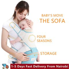 0-36 Months Breathable Front Facing Baby Carrier 7 in 1 Infant Comfortable Sling Backpack Baby Stuff Red one size