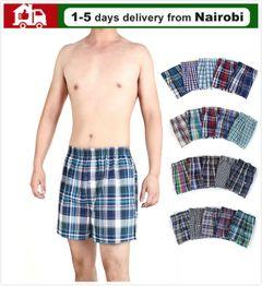 Boxer Shorts Pure Cotton Multicolor Home living Bath clothes Summer clothes Men underwear Sales 3pcs/set random color XXL