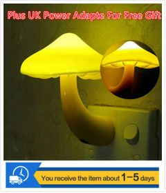 Night lights Mushroom Motion Sensor lights plug-in energy-saving light control Sales Gift yellow common 0.5w