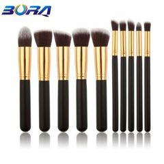 10pcs/Set Makeup Brushes Powder/EyeShadow/Foundation/ConcealerBrush Makeup Tools Beauty Small Size black
