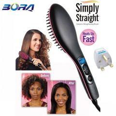 Straight Hair Straightener Comb Digital Electric Straightening Hair Dryer Straightening Irons black one size