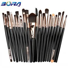 20Pcs/Set Makeup Brushes Powder Brush/Eye Shadow Brush/Foundation Brush Makeup Tools Beauty black